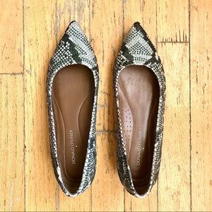Donald J. Pliner Beaded Pointed Toe Flats
